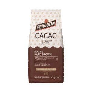 CACAO VAN HOUTEN ROUND DARK BROWN MAGRO 0.75 KG