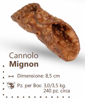 CANNOLO SICILIANO MIGNON CACAO 350 PZ
